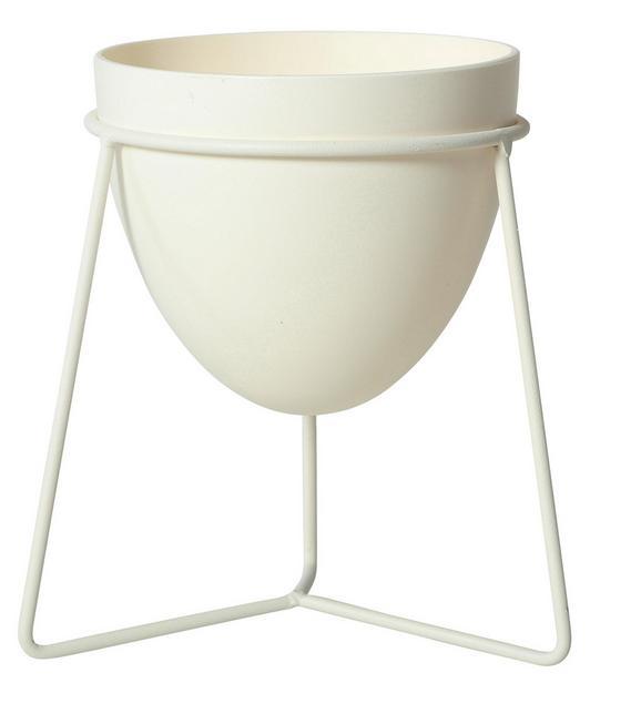 Pflanztopf Pura Weiß 19x23 cm - Weiß, Kunststoff (19/23cm)