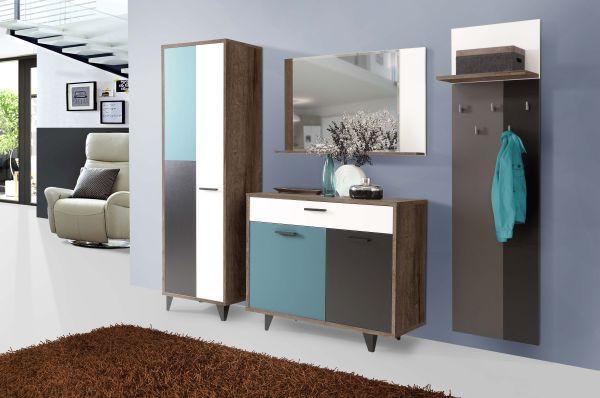 Tükör Raven - barnásszürke/tölgy színű, Lifestyle, műanyag/üveg (105/66/13,5cm) - premium living