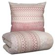 Bettwäsche Triangle Rosa 135x200cm - Rosa, Textil (135/200cm) - MÖMAX modern living