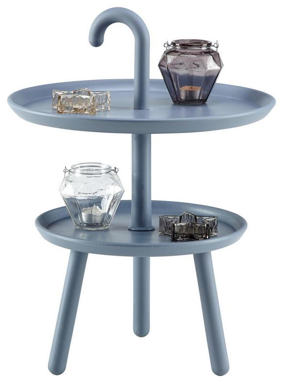 Beistelltisch Grau/blau - Blau/Grau, MODERN, Kunststoff (42/56cm) - Mömax modern living