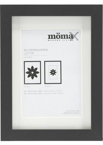 Bilderrahmen Gitta Schwarz ca. 13x18cm - Schwarz, MODERN, Glas/Holzwerkstoff (13/18/3,6cm) - Mömax modern living