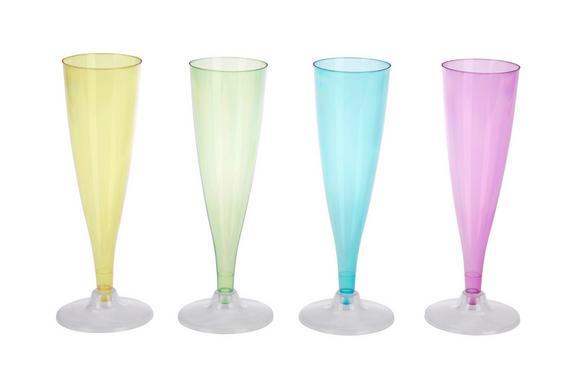 Champagnerglas Lucia in versch. Farben - Blau/Pink, Kunststoff (6/24cm)