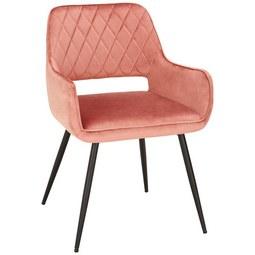 Stuhl in Rosa - Schwarz/Rosa, MODERN, Textil/Metall (55/80,5/59,5cm) - Modern Living