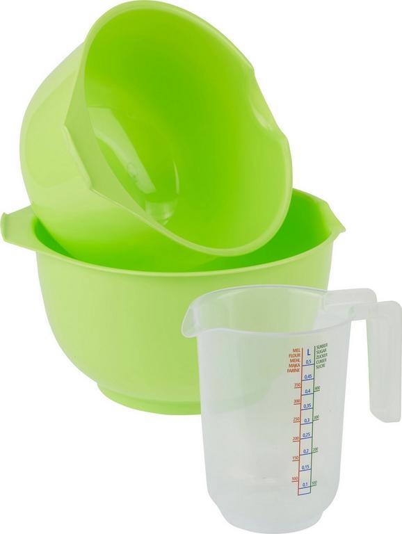 Rührschüssel inkl. Messbecher Anne aus Kunststoff - Türkis/Transparent, Kunststoff (24/13cm)
