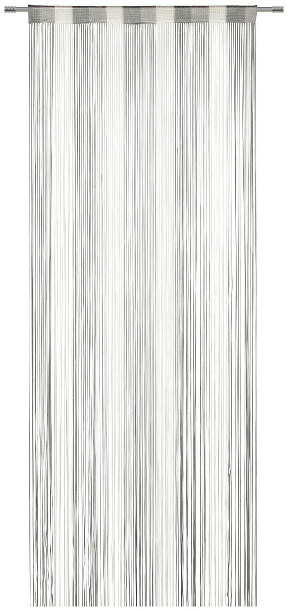 Fadenstore String Grau/Weiß - Weiß/Grau, Textil (90/245cm) - Premium Living