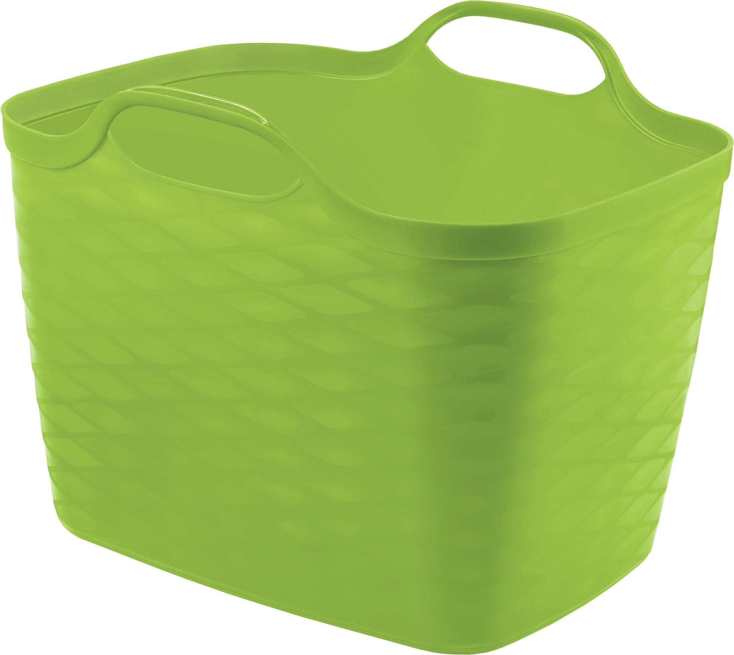 Kosár Flexi Kosár 25l - zöld, műanyag (25l)