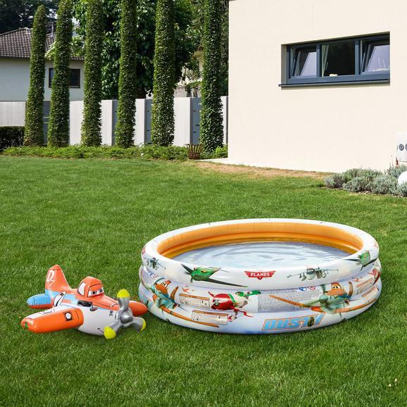 Kinderschwimmbecken Planes - Orange/Weiß, MODERN, Kunststoff (168cm) - INTEX