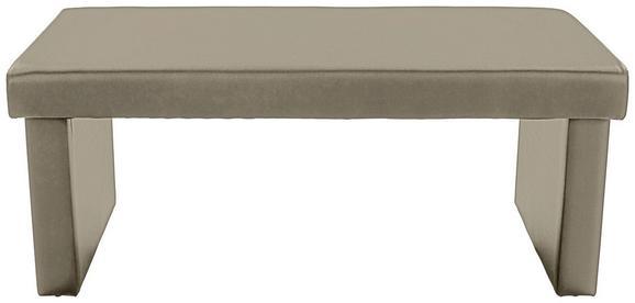 Ülőpad Passau - barnásszürke, konvencionális, textil (120/50/52cm)