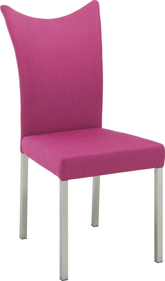 Stol Moon - roza, Moderno, kovina/leseni material (46/100/64cm) - Premium Living