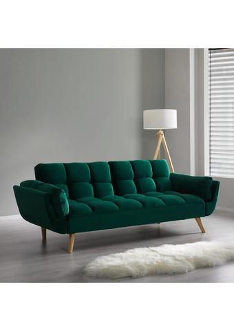 Schlafsofa Clara - Grün, MODERN, Holz/Textil (214/82/81cm) - Mömax modern living