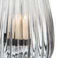 Windlicht Svenjia Ø/h ca. 15,5/21,7 cm - Blau/Schwarz, MODERN, Glas/Metall (15,5/21,7cm) - Mömax modern living