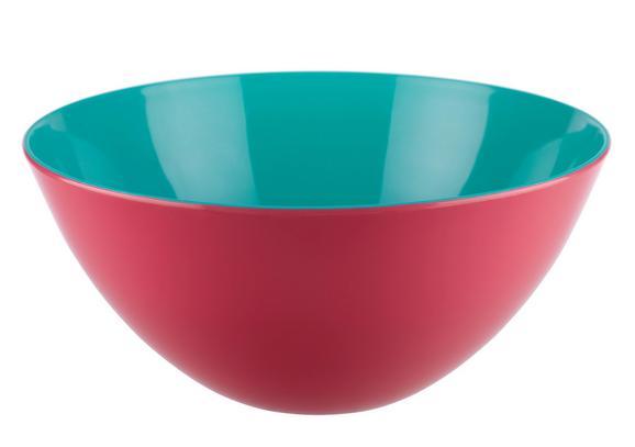 Salatschüssel Malia in verschiedenen Farben - Türkis/Pink, LIFESTYLE, Kunststoff (27/12,5cm) - MODERN LIVING