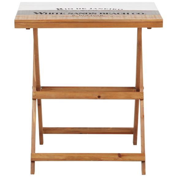 Klapptisch in Braun - Braun/Weiß, LIFESTYLE, Holz/Holzwerkstoff (40/61,5/56cm) - Modern Living