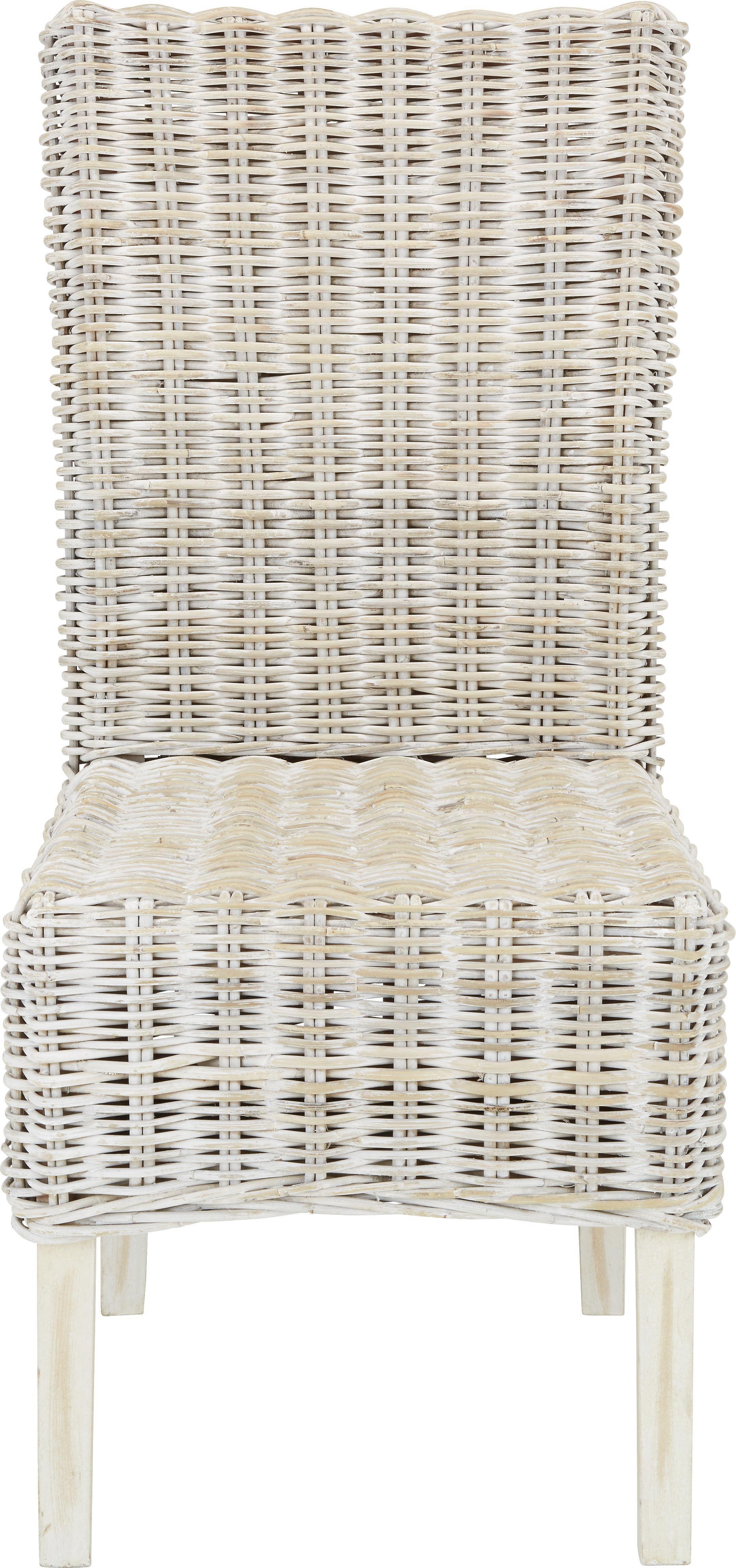 Stuhl aus Rattan - Grau, ROMANTIK / LANDHAUS, Holz (54/100/46cm) - ZANDIARA