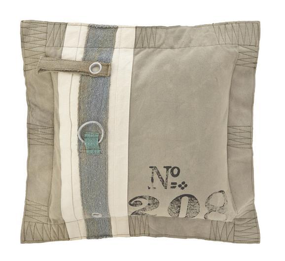 Kissen Zac 50x50cm - Grau, Textil (50/50cm) - Premium Living