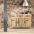 Servantă Industry - maro închis/culoare natur, Lifestyle, lemn/metal (130/86/42cm) - Zandiara