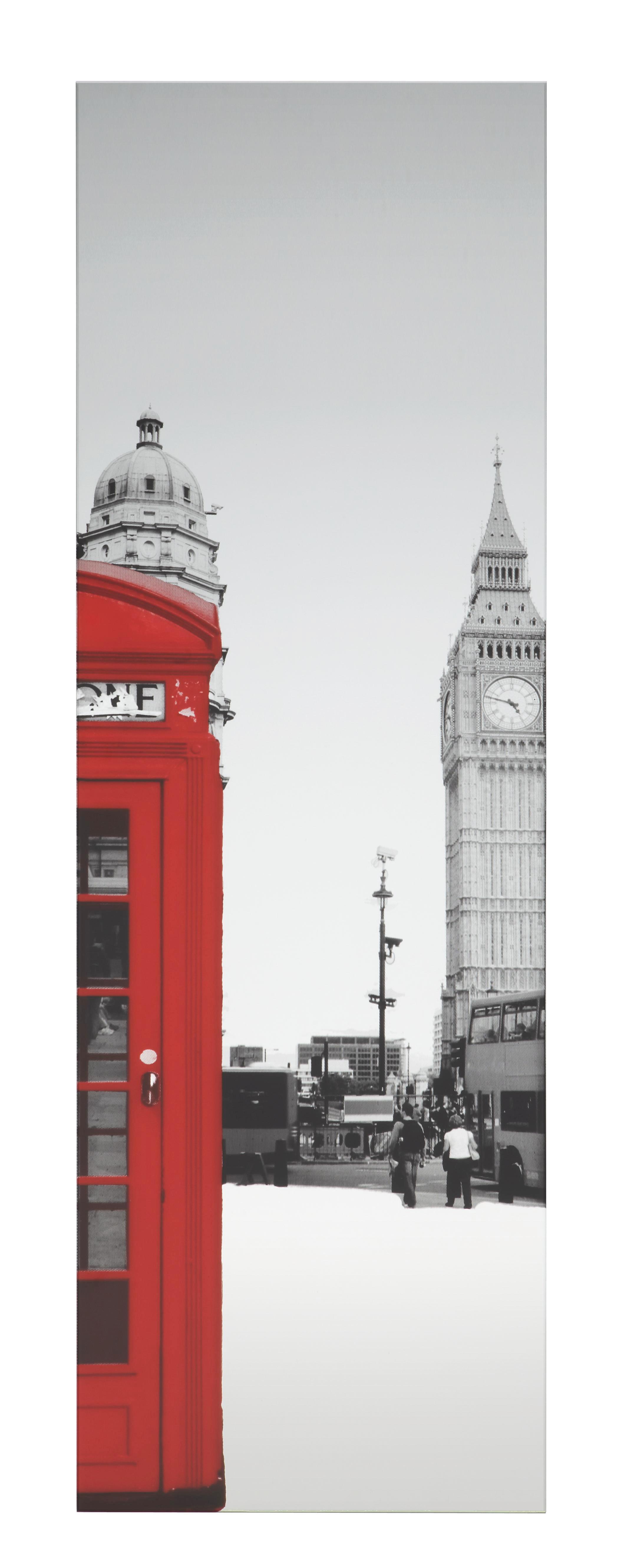 Design Tükör London Telephon - fekete/piros (50/160cm)
