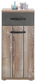 Unterschrank Kieferfarben/dunkelgrau - Dunkelgrau/Schwarz, MODERN, Holzwerkstoff/Kunststoff (41/87/35cm) - Mömax modern living
