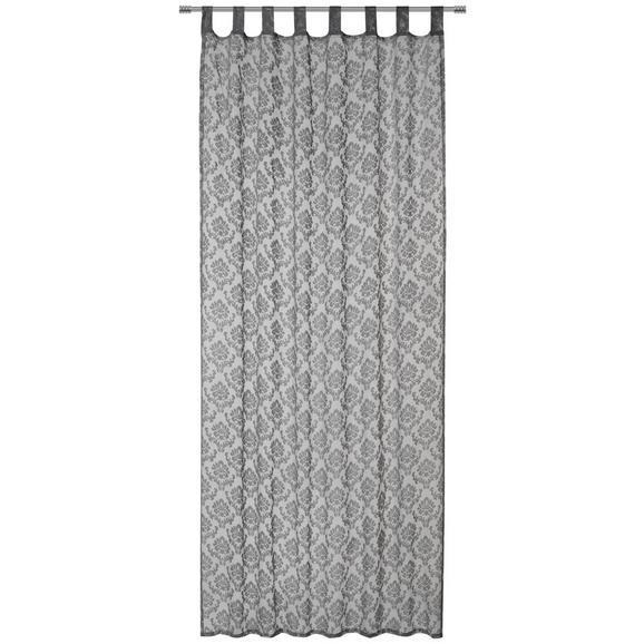 Zavesa Z Zankami Harry - siva/bela, Konvencionalno, tekstil (140/245cm) - Mömax modern living