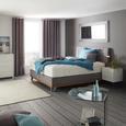 Boxspringbett in Grau ca. 160x200cm - Chromfarben/Grau, KONVENTIONELL, Holz/Textil (160/200cm) - Premium Living
