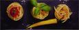 Glasbild Tris Di Pasta, 30x80x2cm - Multicolor, MODERN, Glas (30/80/2cm) - Mömax modern living
