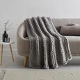 Decke Berita ca.130x170cm in Hellgrau - Hellgrau, Textil (130/170cm) - Mömax modern living