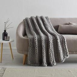 Kuscheldecke Berita ca.127x152cm - Hellgrau, Textil (127/152cm) - Mömax modern living
