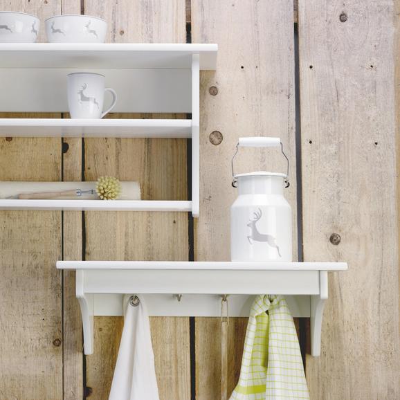 Küchenregal Claudia - Weiß, KONVENTIONELL, Holz/Metall (60/20/25cm) - LANDSCAPE