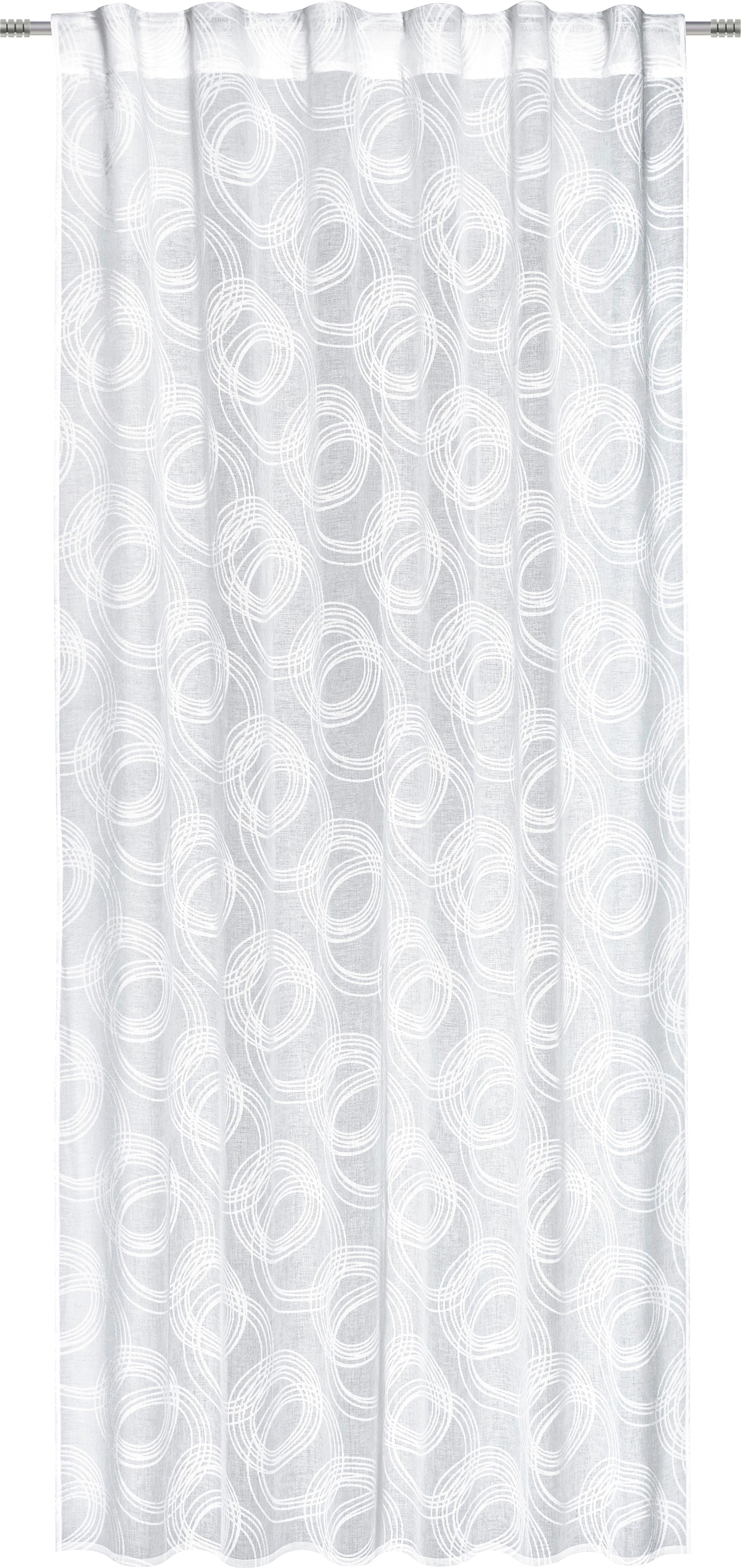 Készfüggöny Curve - fehér, konvencionális, textil (140/245cm) - MÖMAX modern living