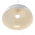 Pendelleuchte Aron - Silberfarben/Weiß, Metall (40/130/cm) - Mömax modern living