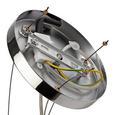Hängeleuchte max. 40 Watt 'Benny' - Beige, MODERN, Textil/Metall (48/160cm) - Bessagi Home