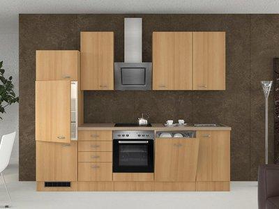 Küchenblock mit 5 teiligem Geräteset und Spüle