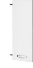 Tür Weiß Hochglanz - Weiß, MODERN, Holz/Kunststoff (39.4/105.3/1.8cm) - Premium Living