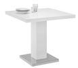 Esstisch Weiß/chrom Hochglanz - Chromfarben/Weiß, MODERN, Holzwerkstoff/Metall (80/75/80cm) - Premium Living
