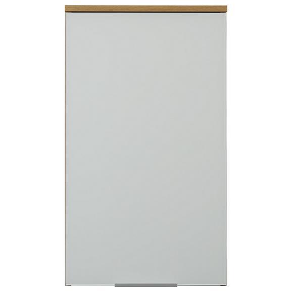 Hängeschrank in Eichefarben - Eichefarben/Alufarben, MODERN, Holzwerkstoff/Metall (39/69/27cm)