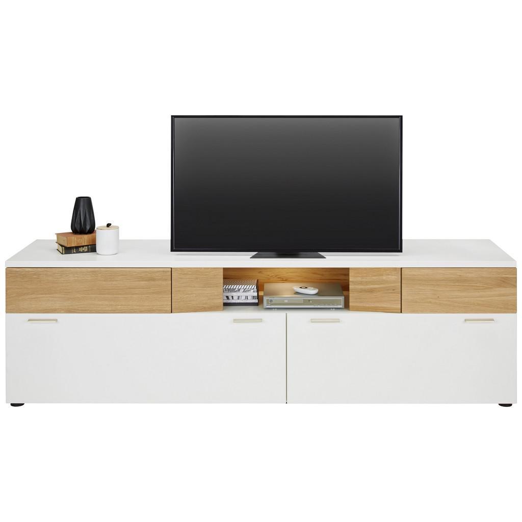 tv mobel holz ysandre 2 turen 2 ablagen mehr zu kauf unique tv element aus eiche massiv