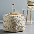 Pouf in Creme ca. 45x45x45cm - Creme, ROMANTIK / LANDHAUS, Textil (45/45/45cm) - Zandiara