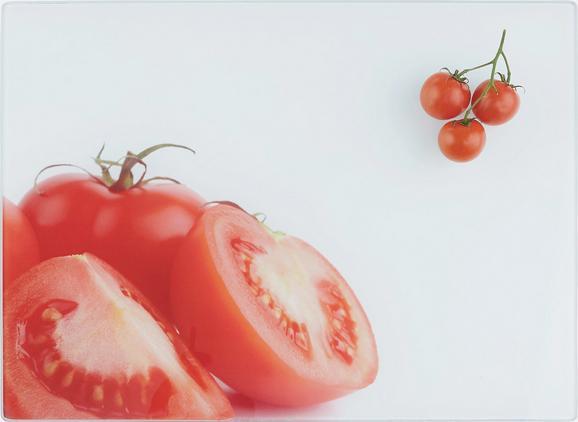 Schneidebrett Tomate aus Glas - Glas (30/40/0,4cm) - Mömax modern living
