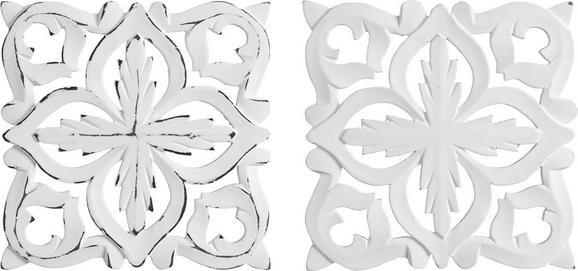 Stenska Dekoracija Krishna - bela, Romantika, leseni material (20/20cm) - MÖMAX modern living