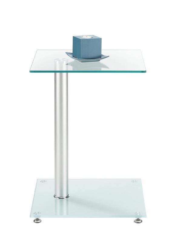 Beistelltisch Aus  Sicherheitsmilchglas - Glas/Metall (40/52/40cm) - MÖMAX modern living