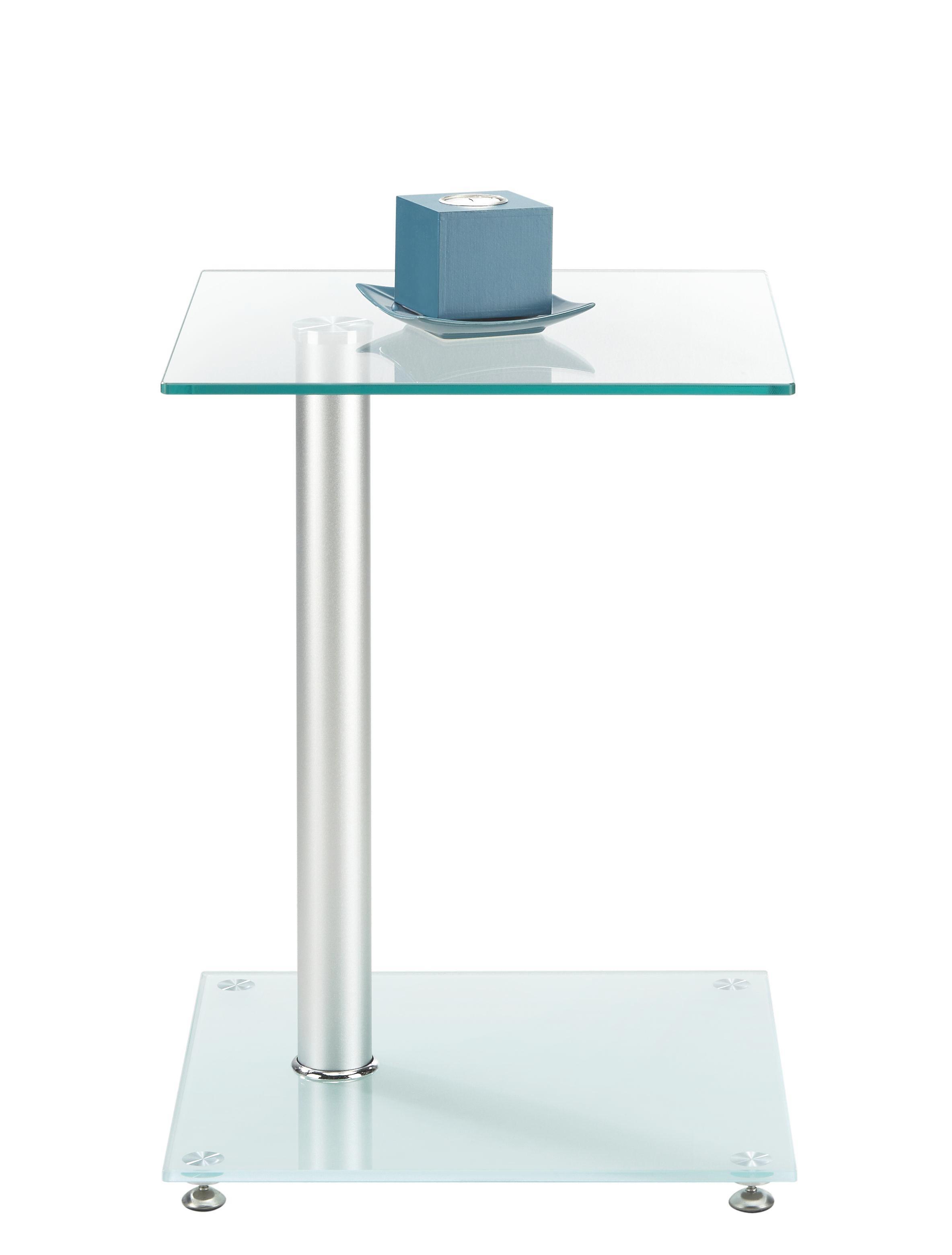 Beistelltisch Aus  Sicherheitsmilchglas - LIFESTYLE, Glas/Metall (40/52/40cm) - MÖMAX modern living