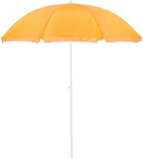 Sonnenschirm Lecci in Orange - Weiß/Orange, Kunststoff/Metall (180/190cm) - MÖMAX modern living