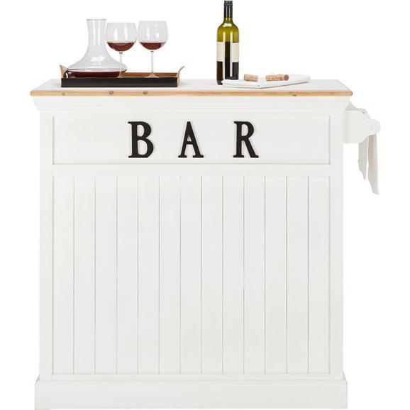 Masă Bar Remy - alb, Romantik / Landhaus, compozit lemnos/lemn (106/110,5/45,5cm) - modern living