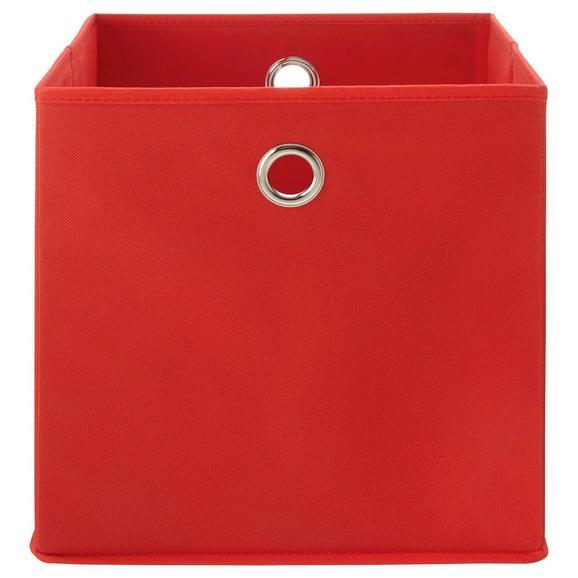 Zložljiv Zaboj Fibi -ext- -top- - rdeča, Moderno, kovina/karton (30/30/30cm) - Based