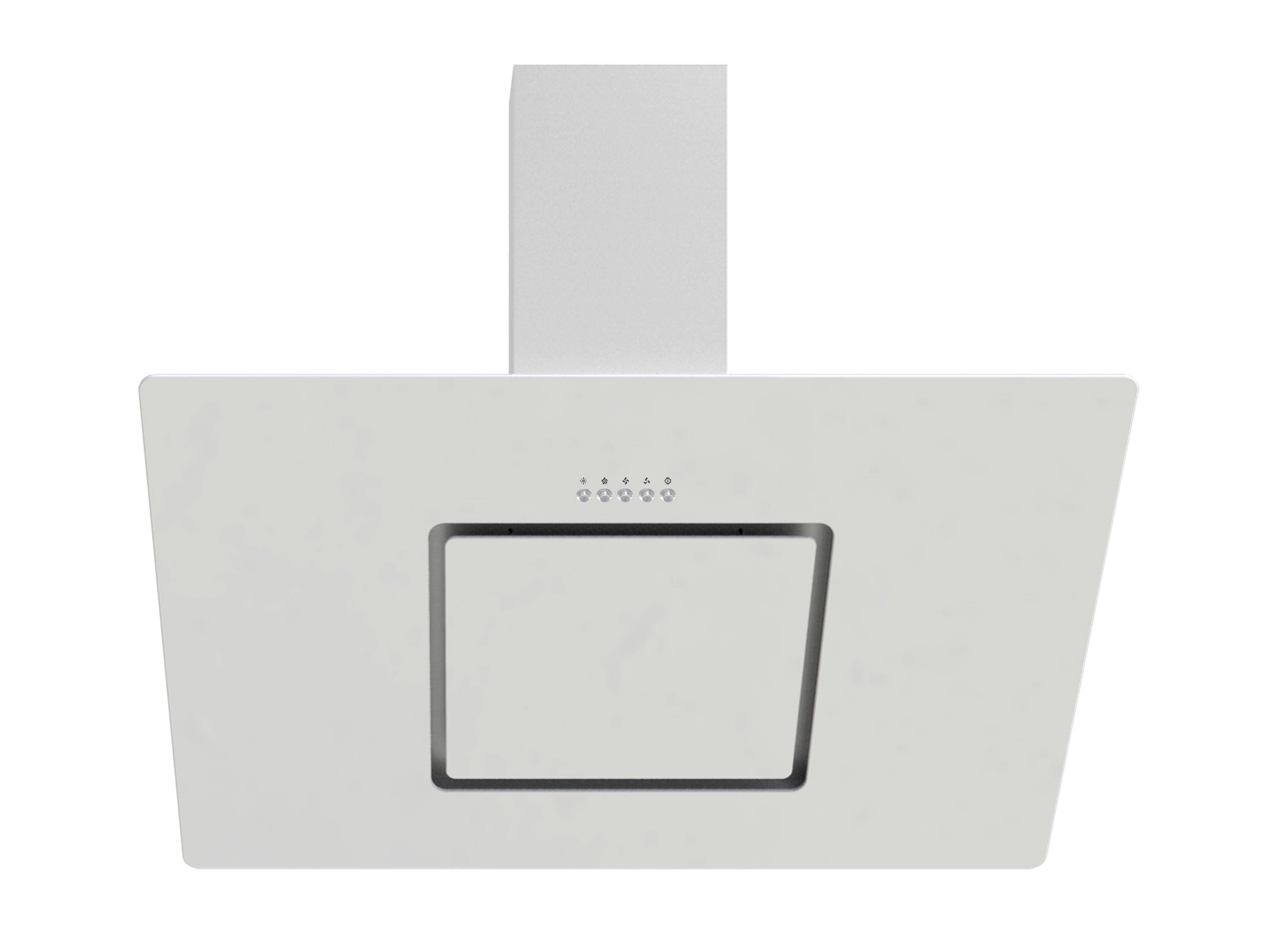 Dunstabzugshaube Ch22010/90wx - Weiß, MODERN, Glas/Metall (90/80,6-110,6/33,7cm)