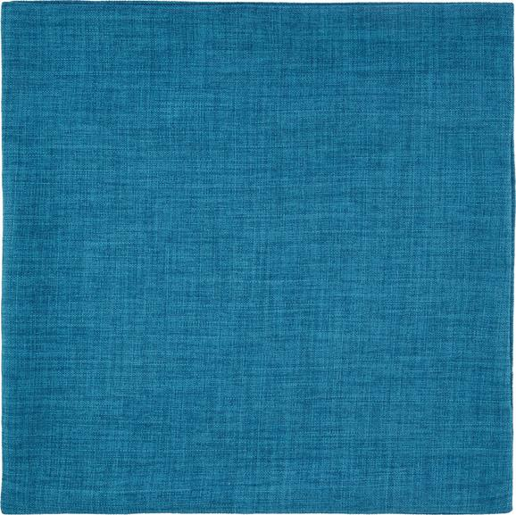 Kissenhülle Leinenoptik, ca. 50x50cm - Türkis, KONVENTIONELL, Textil (50/50cm) - Mömax modern living