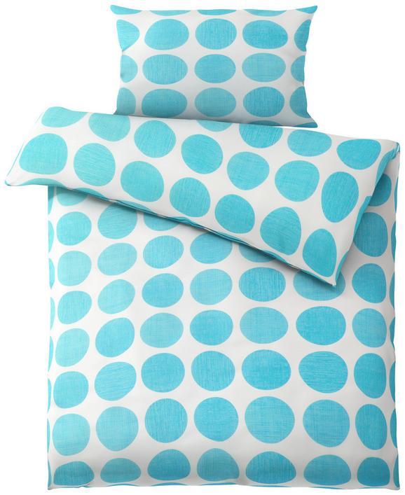 Posteljnina Dots -ext- - petrolej/bela, Moderno, tekstil (140/200cm) - Mömax modern living