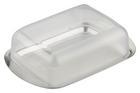 Butterdose Buddy aus Kunststoff - Transparent/Silberfarben, Kunststoff (16,5/10,5cm) - Mömax modern living