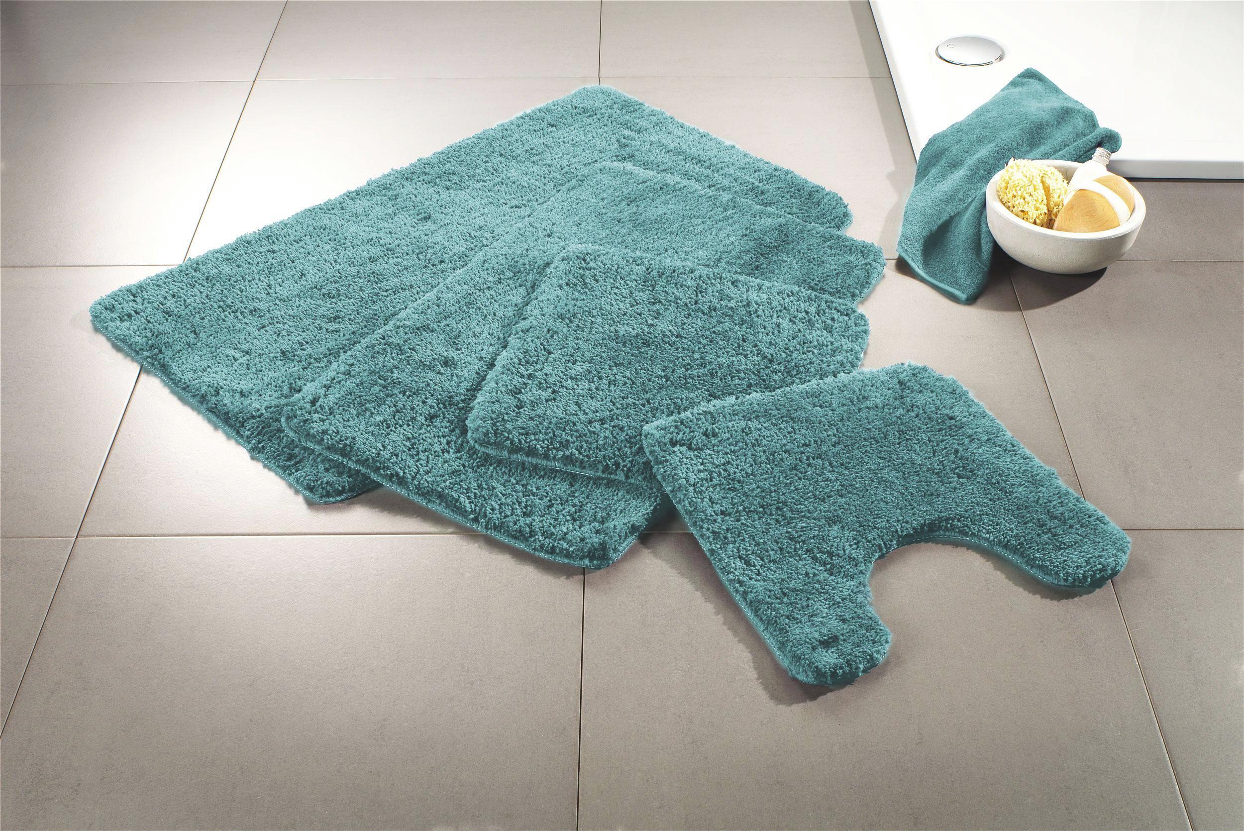 WC-Vorleger Christina ca. 50x50cm - Hellblau, Textil (50/50cm) - MÖMAX modern living