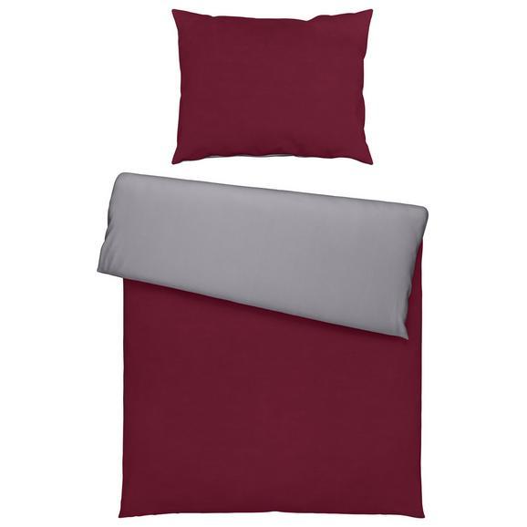 Ágyneműhuzat-garnitúra Belinda - Bordó/Ezüst, Textil (140/200cm) - Premium Living